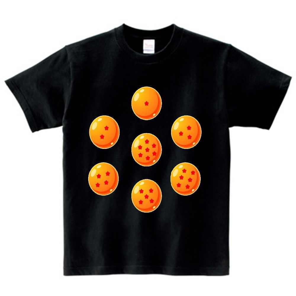 Коллекция 2019 года, Детская Повседневная футболка с принтом аниме «Драконий шар Z Goku» Забавные топы для мальчиков и девочек, детская отличная футболка NN