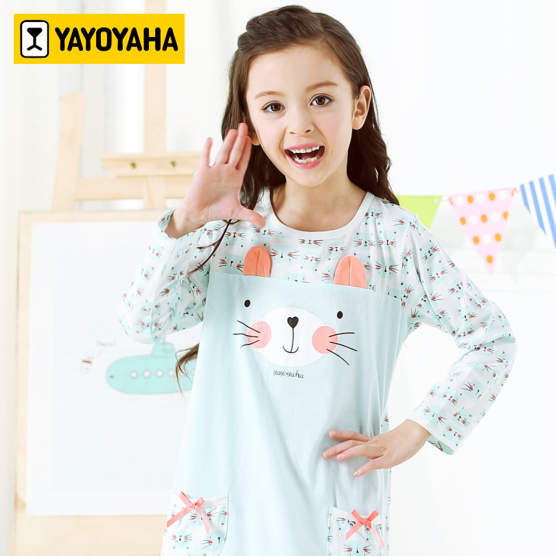 YAYOYAHA Robes For Girls Kids Cotton Long Sleeve Girls