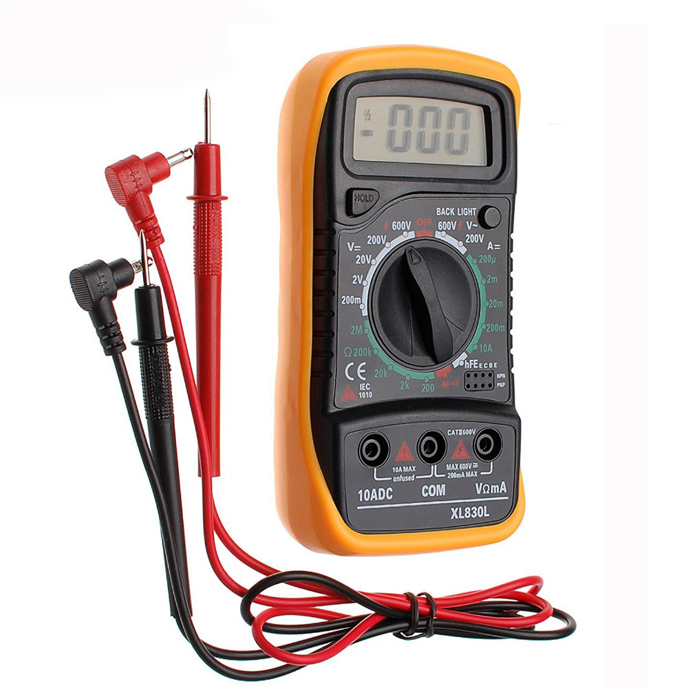 New arrive <font><b>AC</b></font>/DC LCD Digital Multimeter Ohmeter Meter XL830L Volt Meter Ammeter Voltmeter Tester Temperature Measurement image