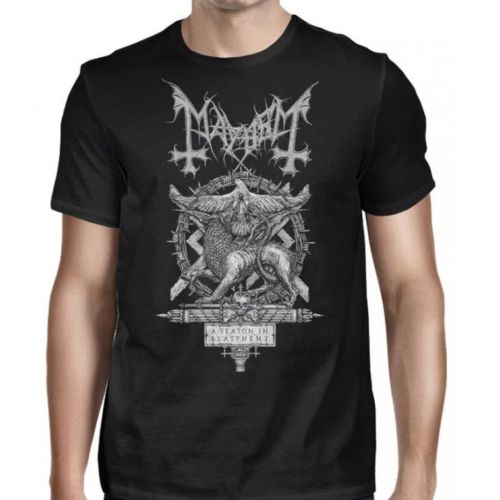 T Shirt Hot Sale Mayhem A Season Of Blasphemy Shirt S M L XL Official T-shirt Black Metal Tshirt T-shirt Funny Tees