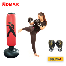 DMAR 160cm Boxing Punching Bag Inflatable Free-Stand Tumbler Muay Thai Training Pressure Relief Back Sandbag With Boxing Gloves цены