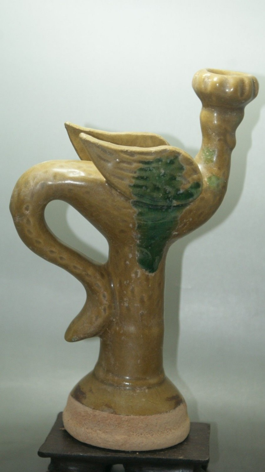 Fine Old China Crackle Glaze Ceramic Porcelain & Pottery Ancient Lamp Collectible old porcelain