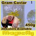 [LYZJ-001] 450 Grama Caviar Beads Art Nail Pequeno Círculo Bolas Decoração de Unhas 3D Art Nail Art Caviar