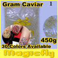 [LYZJ-001] 450 Gramos de Caviar Beads Nail Art Tiny Circle Bolas Nail Art Decoration 3D Caviar Nail Art