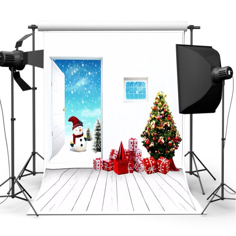 7X5ft Vinyl Christmas photography Background Christmas Theme photographic Backdrop for Studio Photo Prop cloth 2.1 x 1.5m 8x8ft black white stripes wall custom vinyl photography background studio photo prop photographic backdrop 2 4m x 2 4m