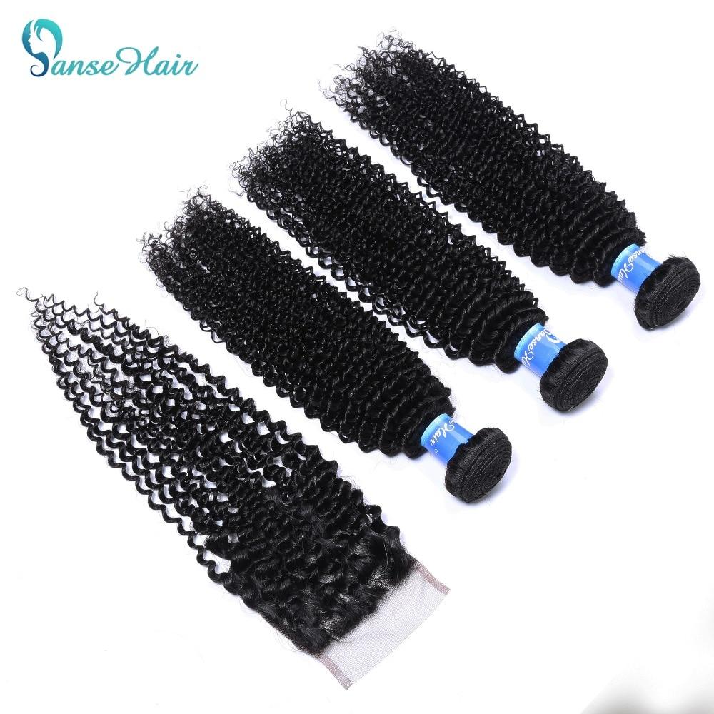 Panse Hair Products 100% Burmese Human Hair Bundles 4 st Per Lot - Mänskligt hår (svart) - Foto 2