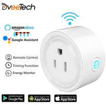 DveeTech Wifi Plug Relay Wifi Smart Socket with Amazon Alexa Google Home IFTTT Remote Switch Schedule on/off Energy Monitor