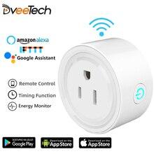 Реле Wifi DveeTech, смарт розетка с Amazon Alexa Google Home IFTTT, дистанционный переключатель, расписание вкл./выкл., монитор энергии