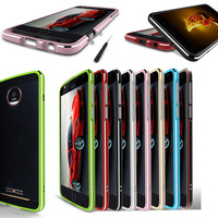 For Moto Z2 Play Z2Play XT1710 Bumper Luxury High Light Metal Bumper Frame Case Cover For