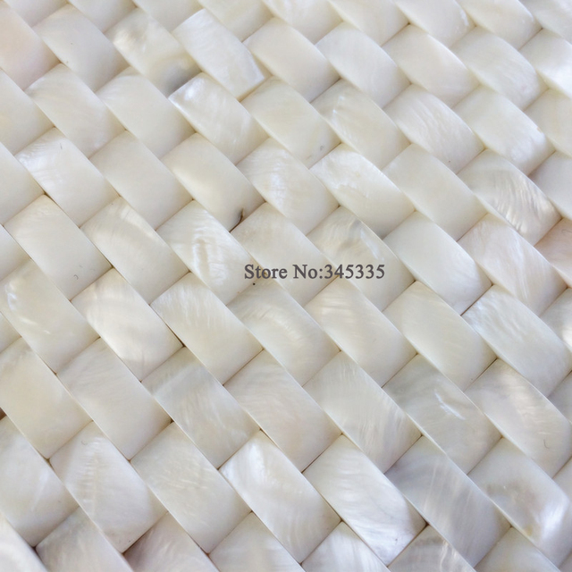 New arrival 3D white brick shell mosaic tile groutless mother of ...