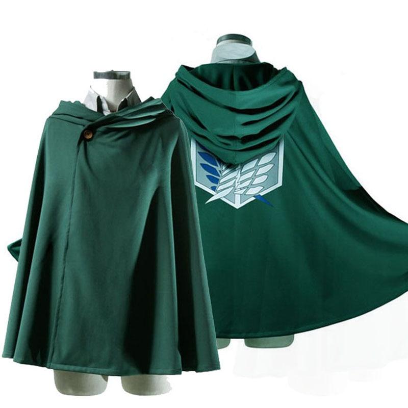 Japanese Hoodie Attack On Titan Cloak Shingeki No Kyojin Scouting Legion Cosplay Costume Anime Cosplay Green Cape Mens Clothes