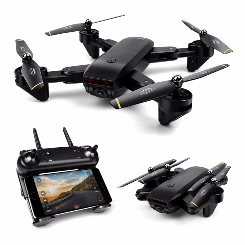 Drone with Camera WIFI FPV Quadcopter with 720P HD Camera Live Video Headless Mode 2.4GHz 4CH 6 Axis Gyro Foldable RTF RC Drone professional drone 2 4ghz 4ch 6 axis gyro rc quadcopter fpv with 30w hd camera wifi real time transmission compass mode drones