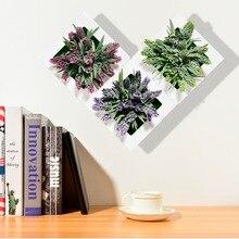 Искусственные цветы Висячие 3D фоторамка пластиковые цветочные горшки держатель украшения дома и сада Искусственный суккулент растения настенные украшения