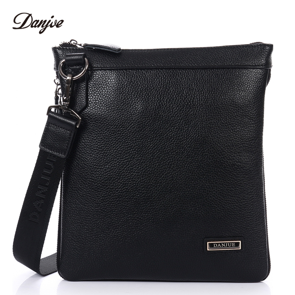 DANJUE Genuine Leather Messenger Bags Small And Exquisite Men Casual Business Crossbody Bags Brand Shoulder Bag Soft Leather