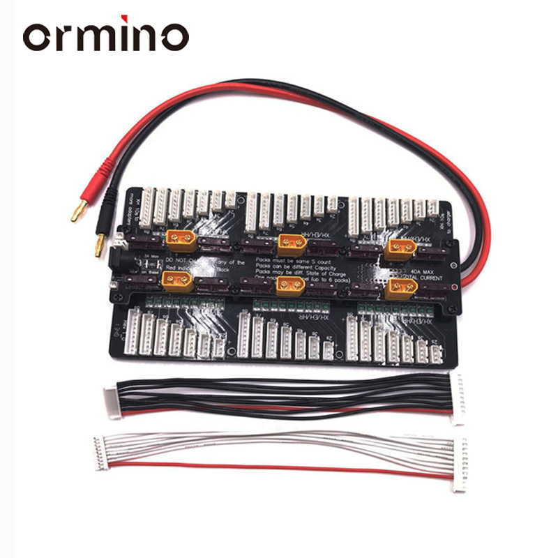 Ormino XH 2S 8S Parallel Charging Board Xt60 Plug 6S Balance Parallel Charging Plate T connector For 308 406 4010 Charger