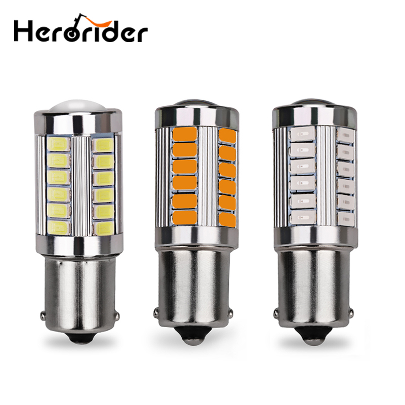 2Pcs Strobe Flashing <font><b>P21W</b></font> BA15S 1156 Flash 33 SMD <font><b>led</b></font> 5630 Auto Car Brake <font><b>Bulbs</b></font> Lights Reverse Daytime Lamps White Red Yellow image