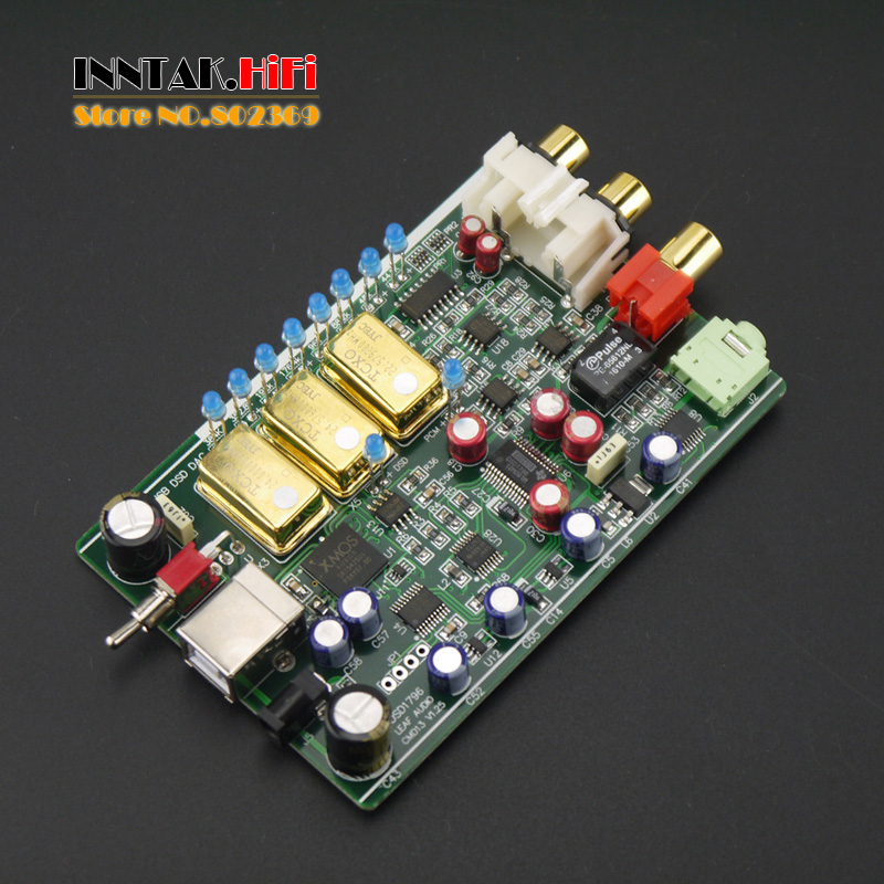 Hifi XMOS U8 DSD1796 USB sound card Decoder DAC Board support PCM / DSD DOP ouput