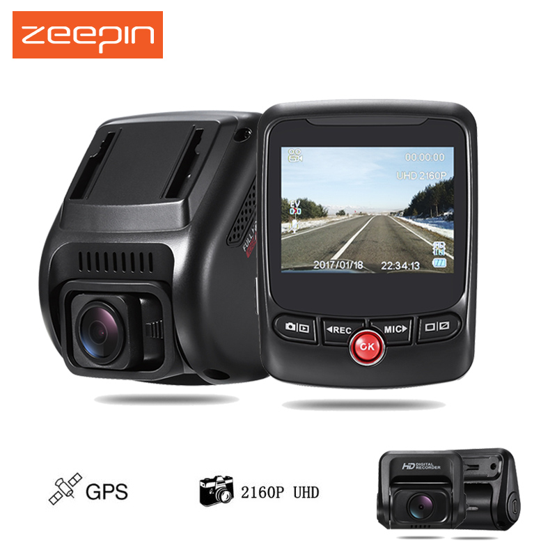 ZEEPIN T690C Dual Camera Car Dash Cam Novatek 2160P 170 degree 2.31 inch Car Driving Recorder with GPS/Rear Camera bigbigroad for nissan qashqai car wifi dvr driving video recorder novatek 96655 car black box g sensor dash cam night vision