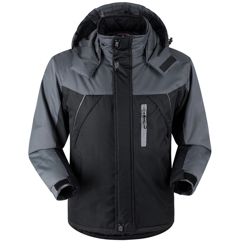 2019 Winter Parka Men Plus Velvet Warm Windproof Coats Mens Military Hooded Jackets Casacos Men's Outwear Casual Overcoat
