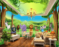 Beibehang Beautiful Atmosphere Waterproof Papel De Parede Wallpaper Animal Park Theme Space Whole House Background Wall