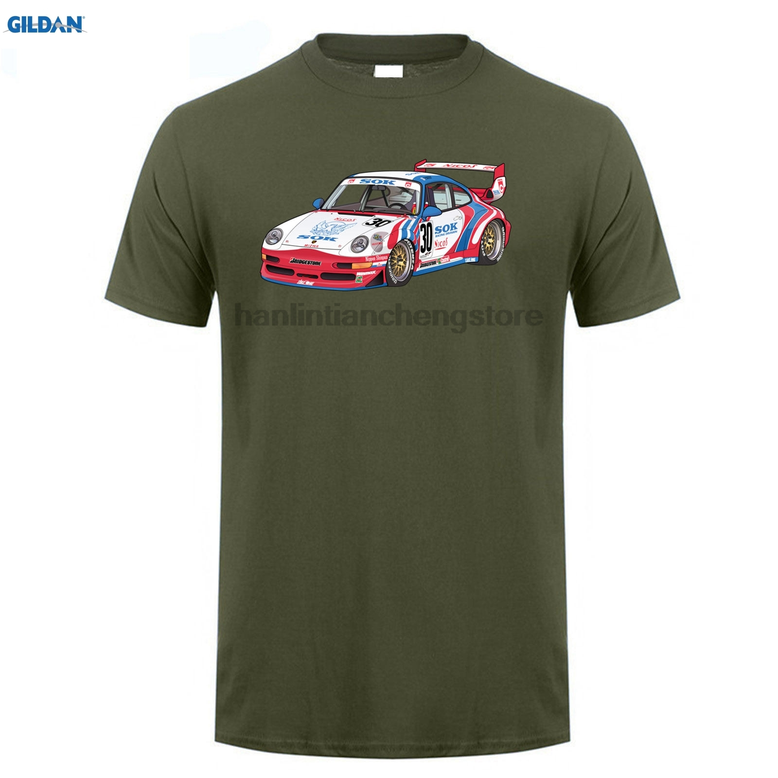 GILDAN 2018 SOK T-shirt number 30 T-shirt mens fashion short-top t shirt