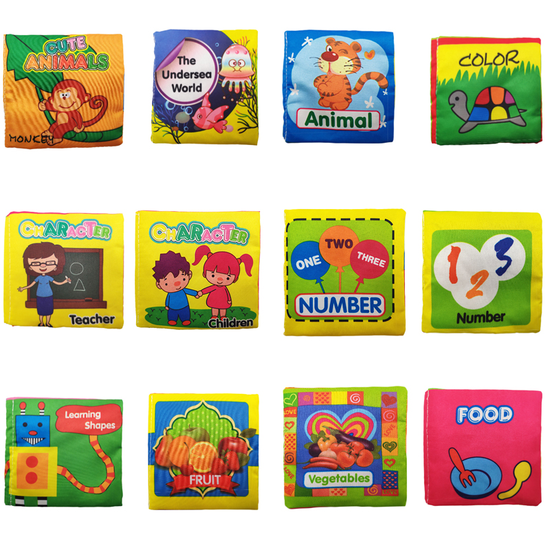 Baby Toys Soft Cloth Books Rustle Sound Infant Educational Stroller Rattle Toy Newborn Crib Bed Baby Toys 0-36 Months