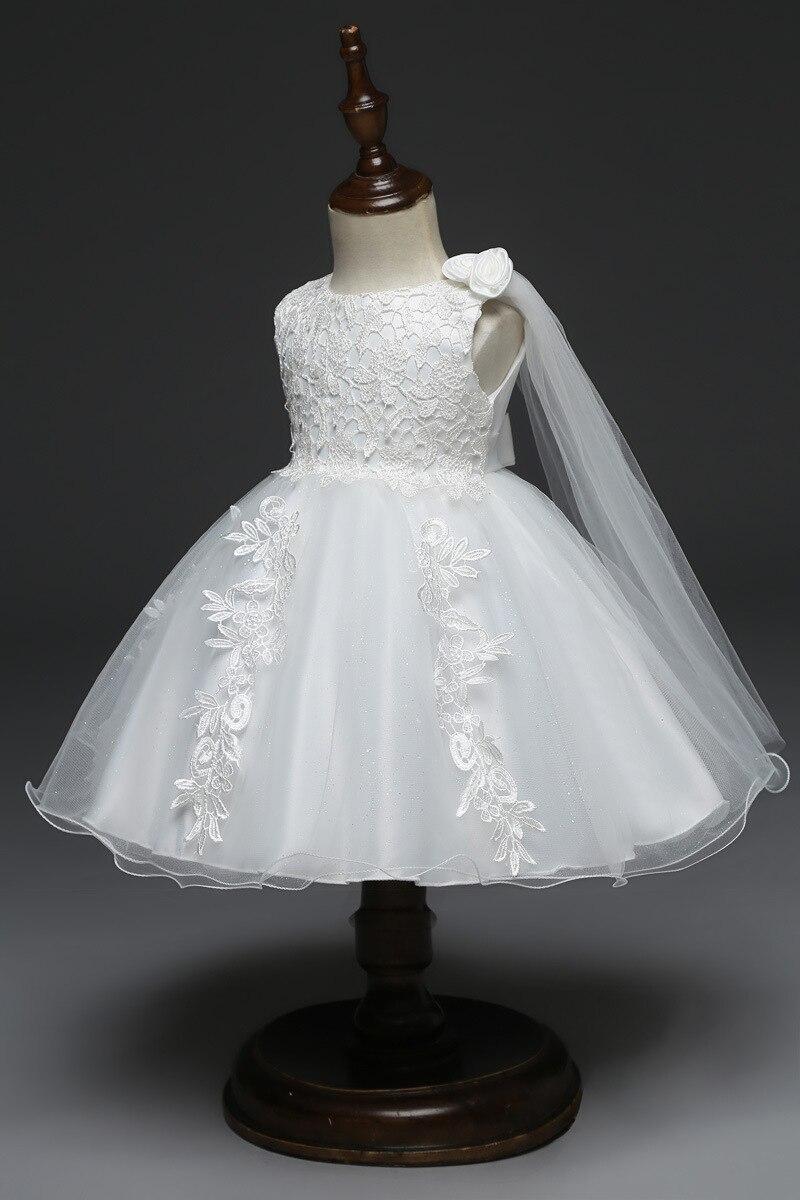Baby Girl Dresses 200 200 200 200 200 200 Months White Lace Wedding Dress Flower  Princess First Birthday Newborn Girl Party Dress 20C2020A