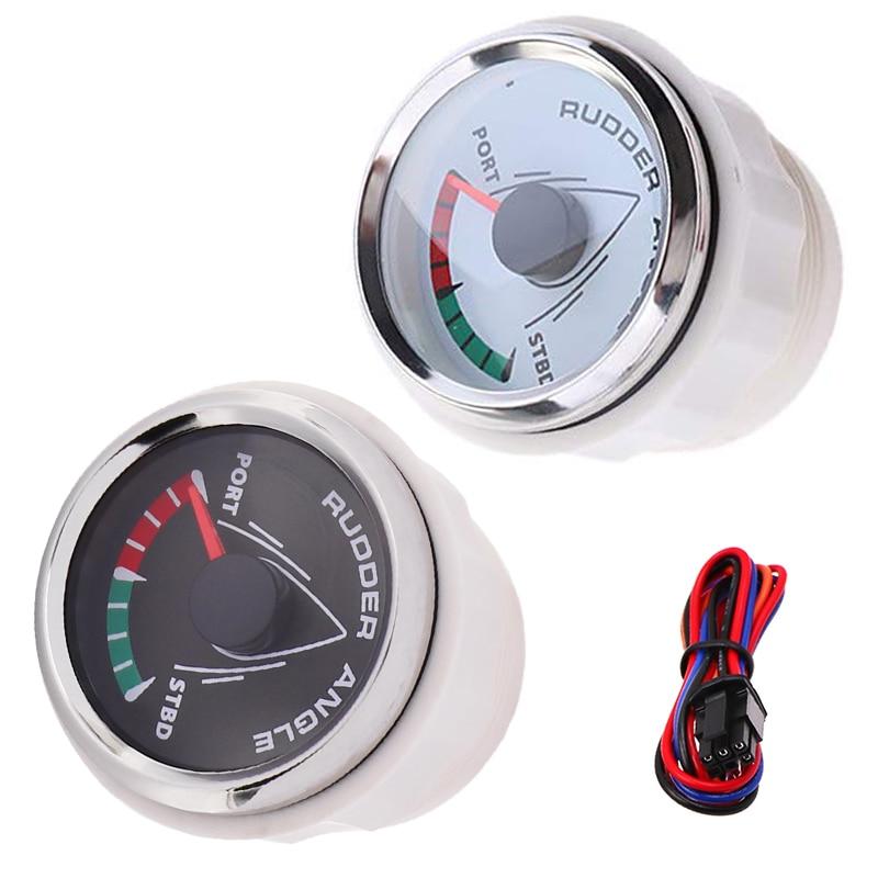 Marine Rudder Angle Indicator Gauge Meter 0-190ohm With Mating Sensor 85mm With 8-Color Backlight