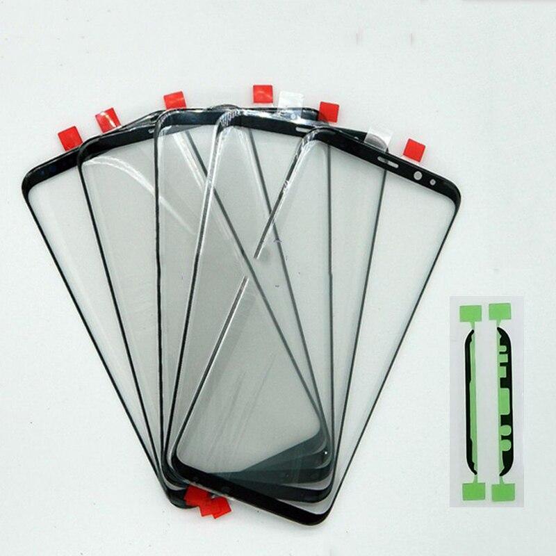 Original Frente Outer Lente de Vidro Da Tela De Substituição Preto Para Samsung Galaxy G950 S8 S8 + S8 Mais G955 Frente Lente de Vidro Da Tela LCD