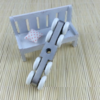Door Roller Ultra Quiet Wooden Furniture Sliding Door Pulley Hanging Track Nylon Curtain Wheel Glass