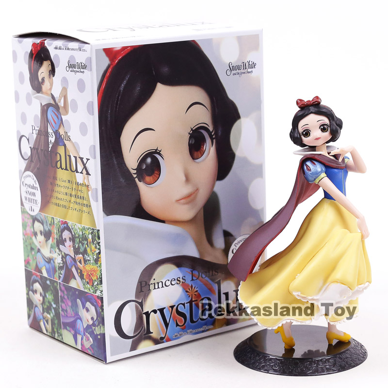 Q Posket Princess Dolls Crystalux Snow White PVC Figure Collectible Model Toy