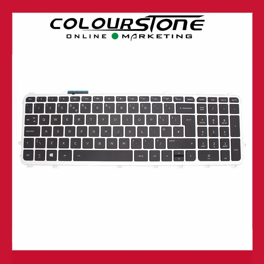 New UK Black Laptop keyboard for HP 15-J 15J  with frame and backlit Keyboard laptop keyboard for hp g14 a004tx g14 a005tx g14 a006tx series black without frame and backlit sf swedish finnish