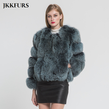 2019 New Arrivals Women Genuine Fox Fur Coat Warm Thick Real Fur Winter Jacket Fashion Natural Fur Outerwear S7370 philips s7370