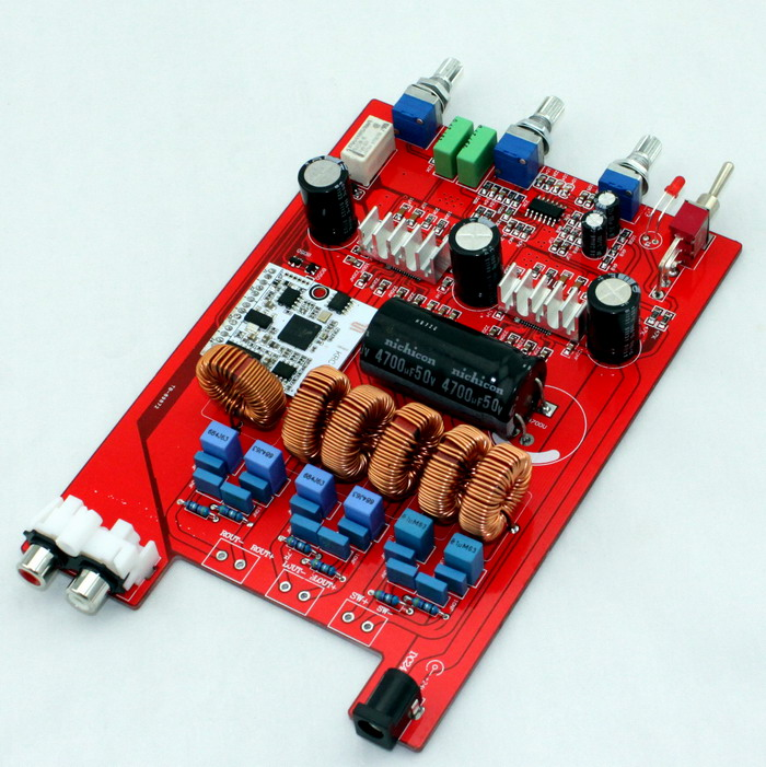 TPA3116 amplifier board 24VDC 2.1 channel class D Bluetooth TPA3116 2.1 Bluetooth amplifier board 2*50W+100W Subwoofer