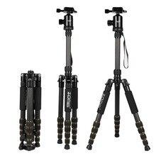 ZOMEI Z669C المحمولة الثقيلة السفر المهنية ألياف الكربون ترايبود Monopod + الكرة رئيس ل SLR DSLR كاميرا رقمية