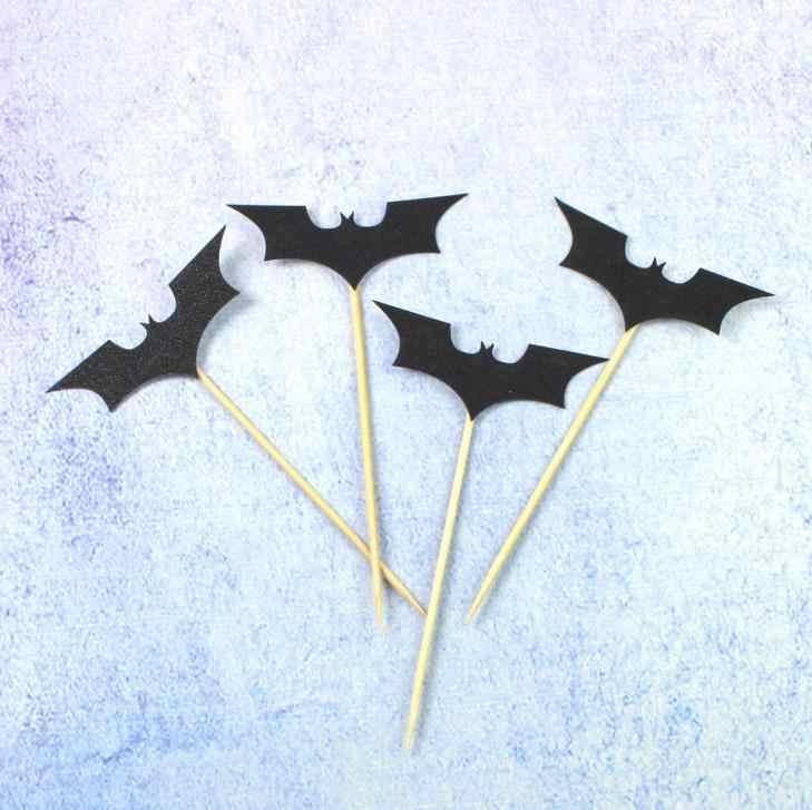 5 pçs/set legal dos desenhos animados preto bat cupcake toppers crianças festa de aniversário decorações bolo topper para crianças festa de aniversário do menino