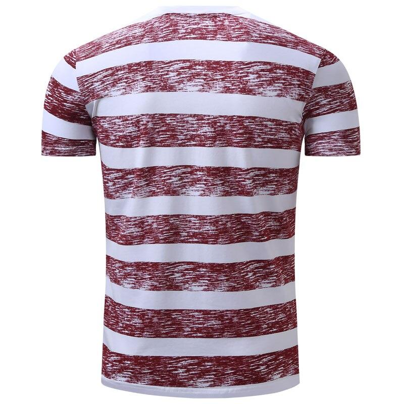 V Noir Respirant Shirt Couleur Manches À T Hommes Casual rouge col Courtes D'été Coton 2xl Chemises Solide Rayé T shirt q4wFfv