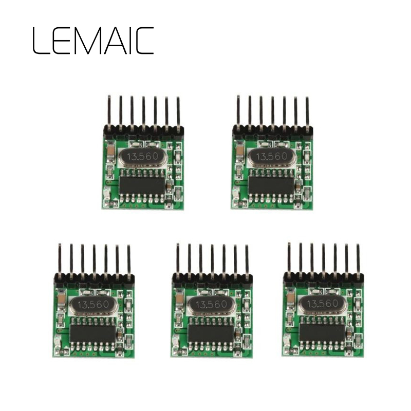 LEMAIC 5Pcs 433 MHz Superheterodyne RF Transmitter 1527 Encoding Module 2262 Learning Code Wireless Remote Control Switch DIY