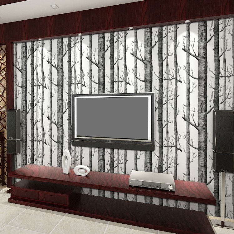 3D Stereoscopic Wallpaper Roll Corridor Living Room Background Wall-papers Black and White Abstract Trunk Tree Branches PVC Good сумка для фотоаппарата hugger tree trunk dark grey