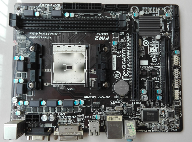 original motherboard for Gigabyte GA-F2A85XM-DS2 Socket FM2 DDR3 F2A85XM-DS2 board USB3.0 A85X Desktop motherborad gigabyte ga ma770 s3p original used desktop motherboard ma770 s3p 770 socket am2 ddr2 sata2 usb2 0 atx