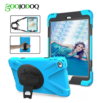 Shockproof Case for iPad 9.7 2018 Case Cover Kids Heavy Duty 3-Layer Anti-slip Armor 360 Swivel Stand Case for iPad 2018 A1823