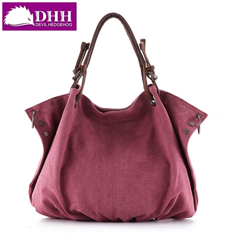 FREE SHIPPING female canvas bag fashion 2019 women s big handbag shoulder messenger bag for women