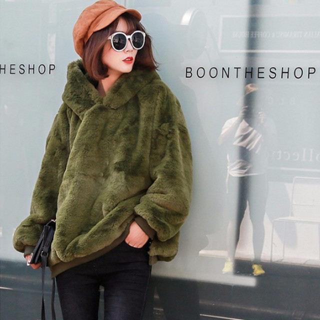 army green hooded tracksuit sweatshirt for women autumn winter ...