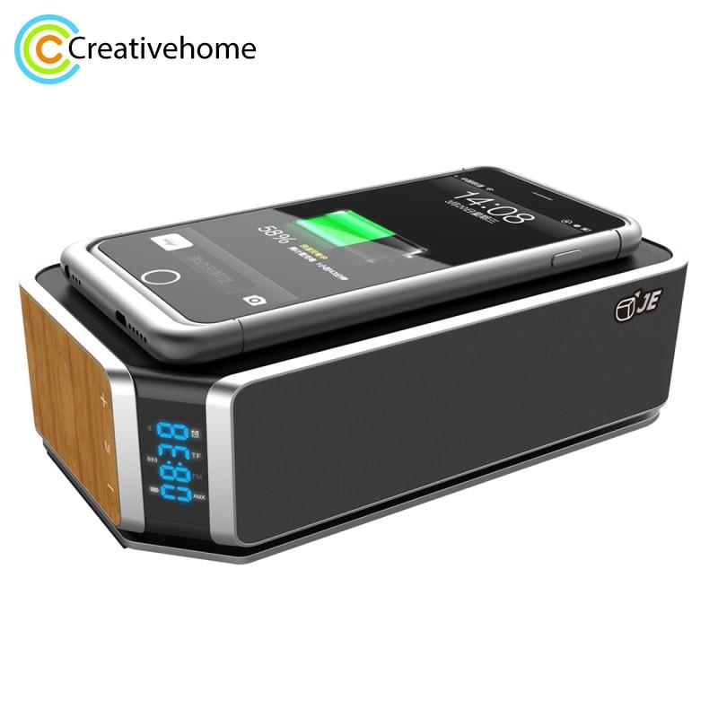 4400 mah Sans Fil De Charge Chargeur Pour iPhone 7 plus Samsung S7 bord Stéréo Haut-Parleur Mains Libres Recevoir des Appels NFC FM Radio