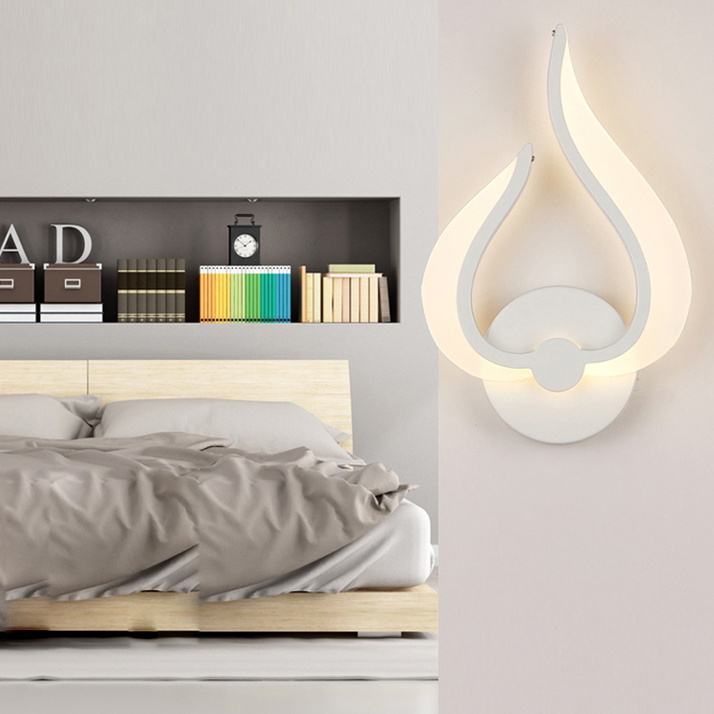 SINFULL ART Modern LED Wall Lamp Acrylic White Color Bedroom Wall Light Bedside Kitchen Dining Room Corridor Sconce Lighting modern creative wall light led bedside wall lamp bedroom sconces aisle corridor led bra wall lighting