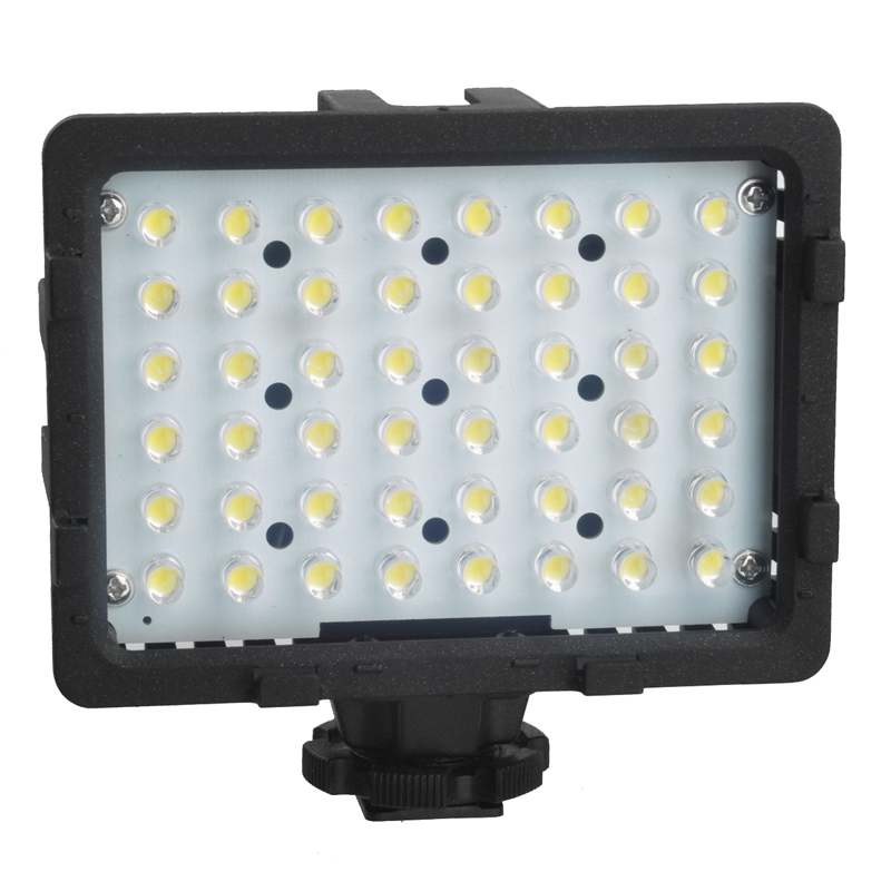 CN-48H Professional 2.9W <font><b>5400K</b></font> 48 <font><b>Leds</b></font> <font><b>LED</b></font> Video Light For Digital Camera Camcorder Photography Lighting