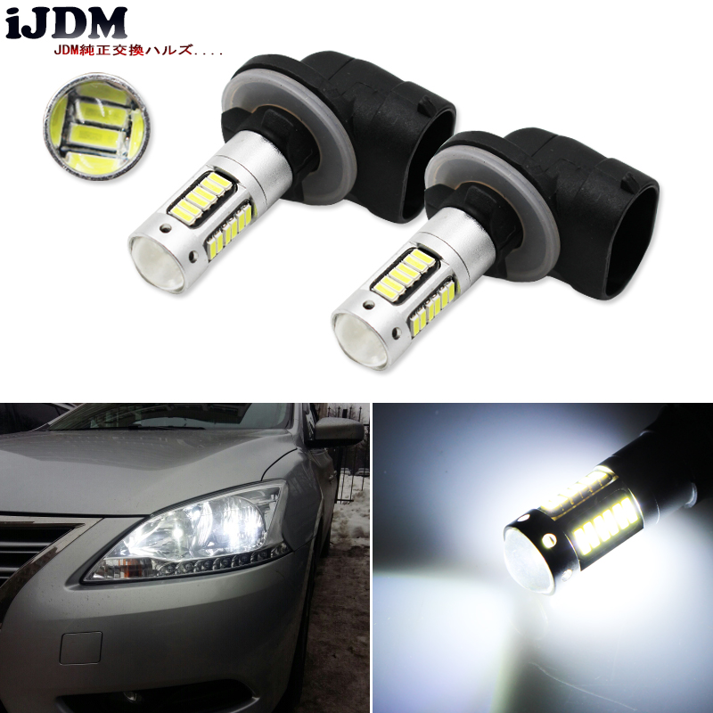 iJDM High Power 6500K White 30-SMD 4014 881 889 H27 LED Replacement Bulbs For Car Fog Lights,ca DRL Lamps,12V Car led,yellow/Red