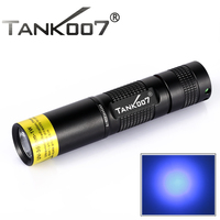 black lights flashlight TANK007 TK566 1w uv ultra violet led chip 365nm moneris Aluminum check monery