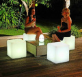 2015 free shipping 40cm LED cube chair for outdoor party/Led Glow Cube Stools Led Luminous Light Bar Stool Color Changeable