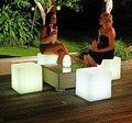 2015 frete grátis 40 cm LEVOU cubo cadeira para festa ao ar livre/Led Brilhar Fezes Cubo Led Barra de Luz Luminosa fezes de Cor Mutável